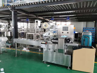 Automatic flow wrap machine hamburger packaging machine